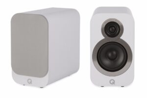 Q Acoustics 3010i Compact Bookshelf Speakers – Arctic White