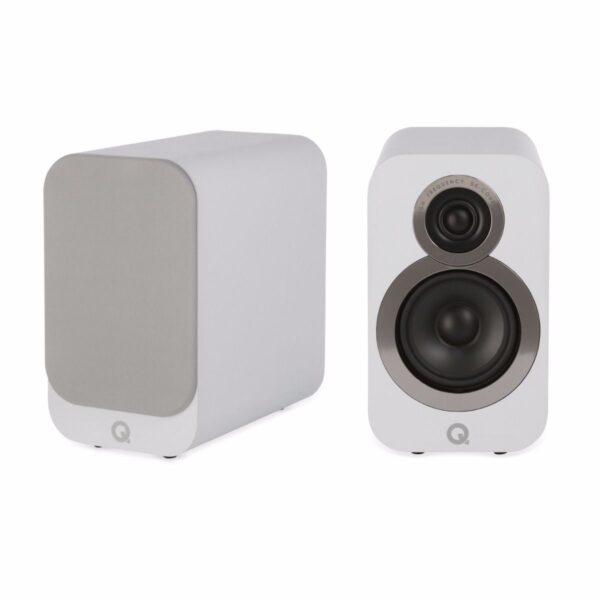 Q Acoustics 3010i Compact Bookshelf Speakers – Arctic White