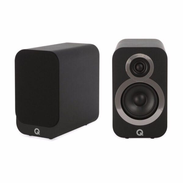 Q Acoustics 3010i Compact Bookshelf Speakers – Carbon Black