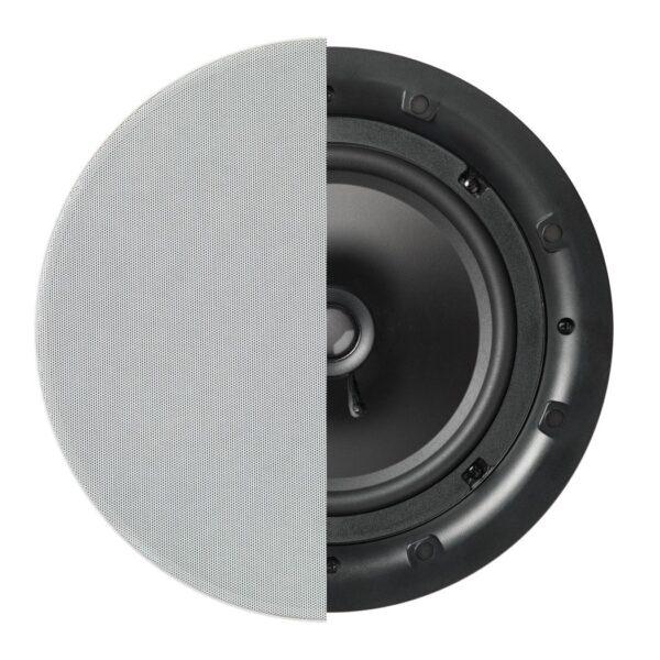 """Q Install QI80 Speaker (PAIR) 8"""" Professional In-Ceiling Speaker"""